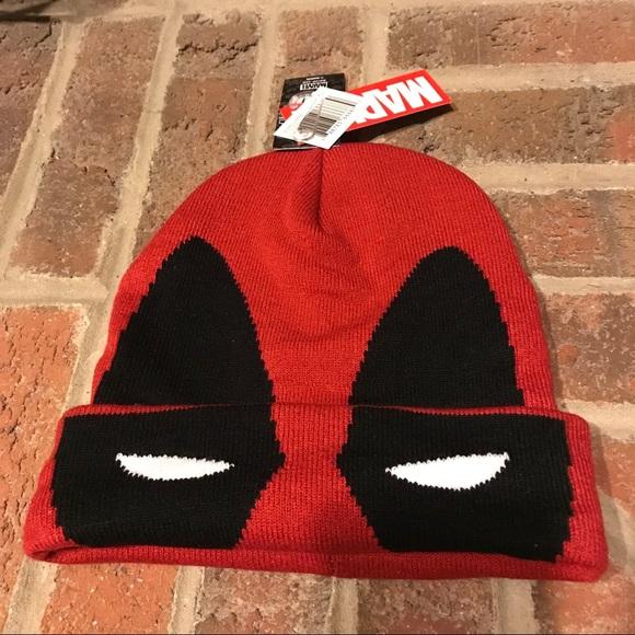 380ca8a3ded6e NWT Deadpool Flip Down Beanie Ski Mask Hat
